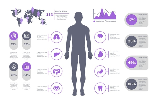 Infographic healthcare medical Free Vector