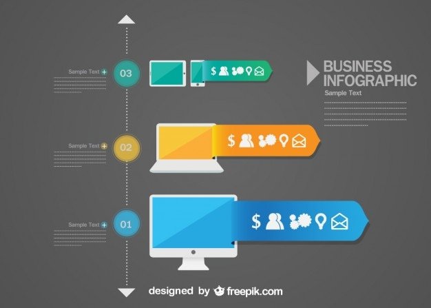 Infographic icons free Vector | Free Download