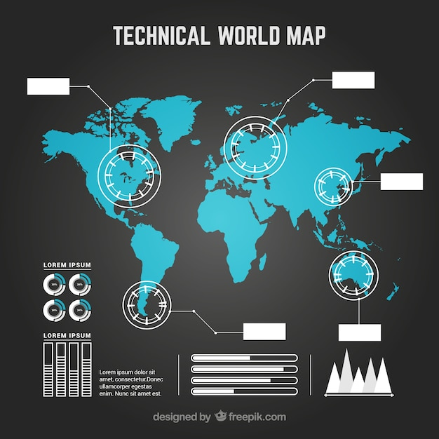 Infographic map Vector | Free Download