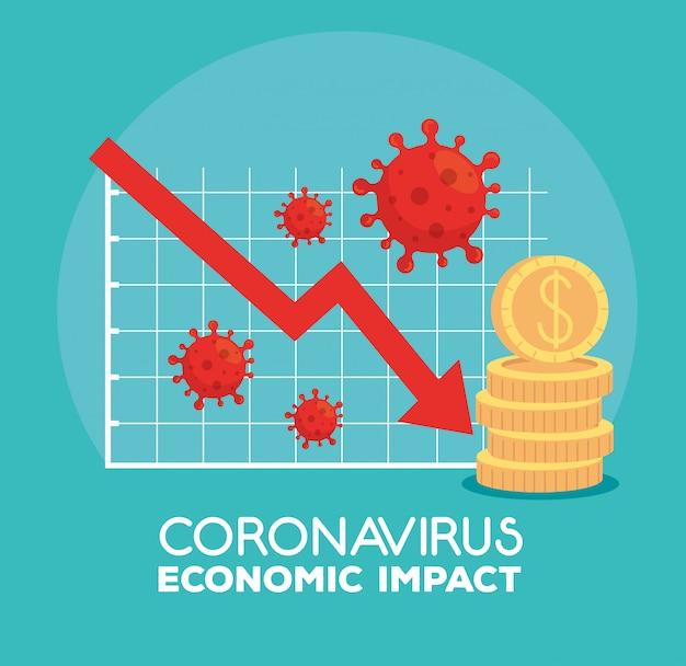 Инфографика экономического влияния по ковиду 2019 Бесплатные векторы