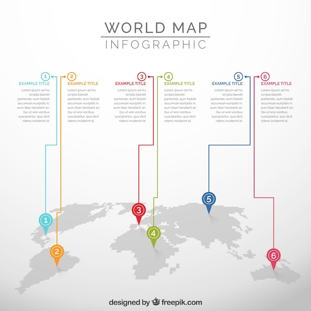 Infographic of world map vector free download infographic of world map free vector gumiabroncs Gallery