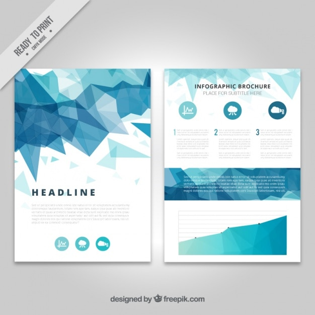 Infographic on a geometric brochure vector free download for Infographic brochure template