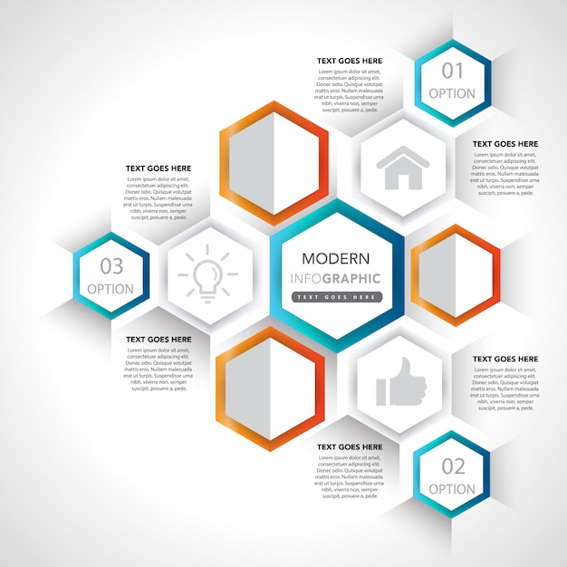 infographic presentation elements and icons vector free download