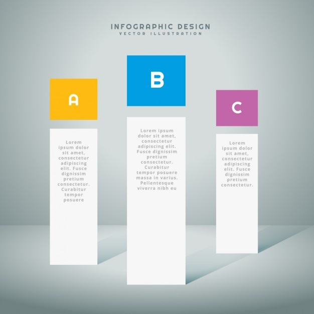 infographic presentation template vector | free download, Powerpoint templates