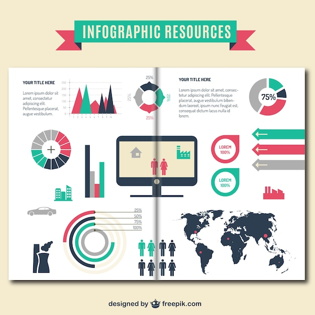 Infographic resources brochure template Vector | Free Download