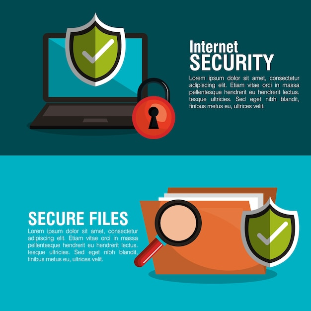 Infographic security checkmark Premium Vector