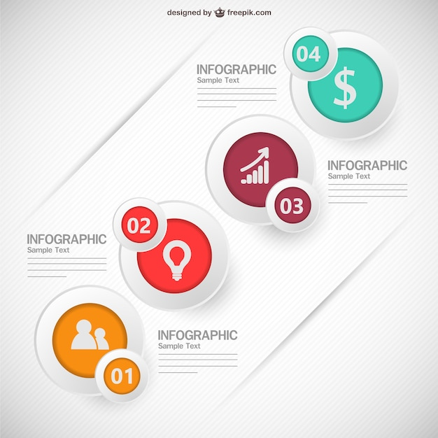 Infographic showing different steps Free Vector