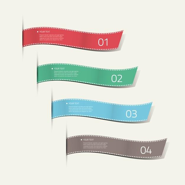 Infographic silk labels decorative vector Premium Vector