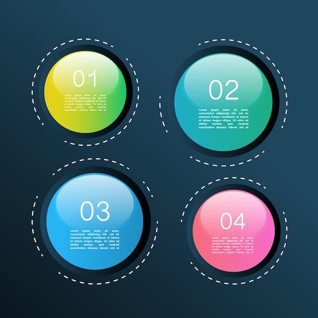 Infographic spheres Free Vector