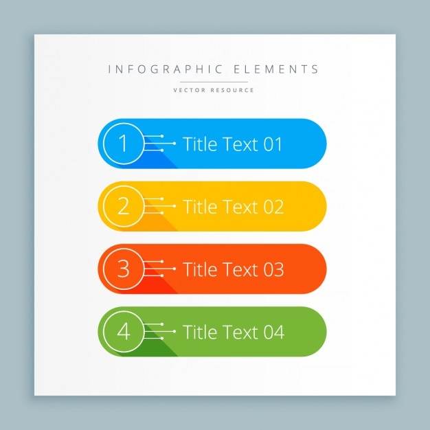 Infographic steps banner in colors Free Vector