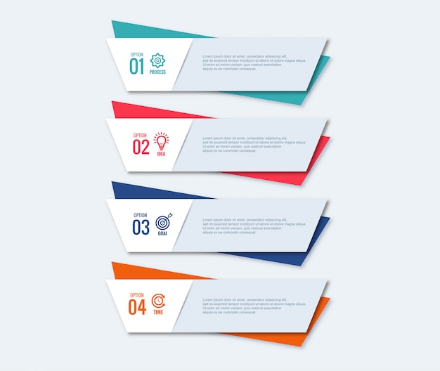Infographic steps concept creative design Free Vector