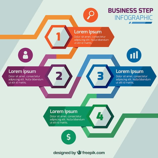 Infographic steps with business style