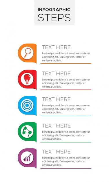 Infographic steps Premium Vector