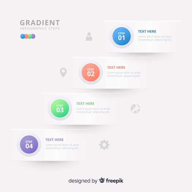 Infographic steps Free Vector