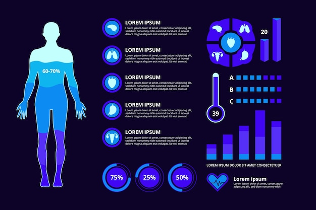 Infographic style medical field Free Vector
