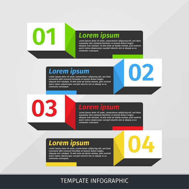 infographic template banner with 3d shadow box vector premium download