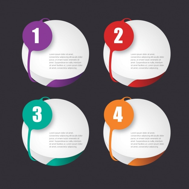 Template Infographic. business infographic template design step ...