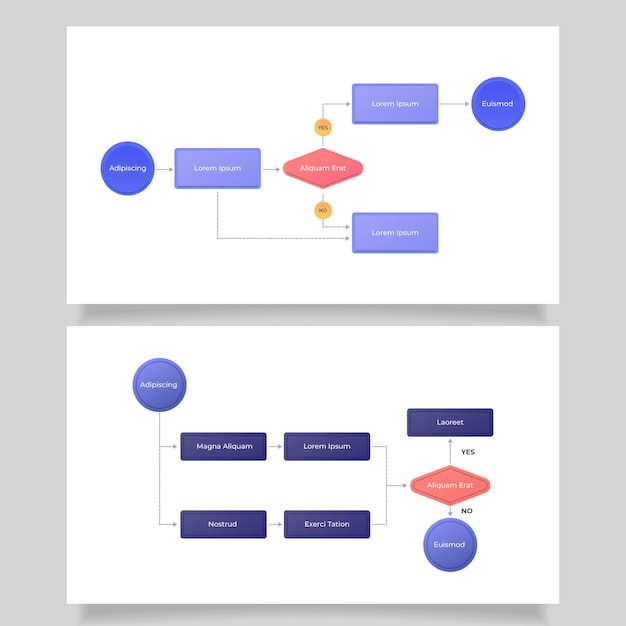 Infographic template for flow diagram Free Vector