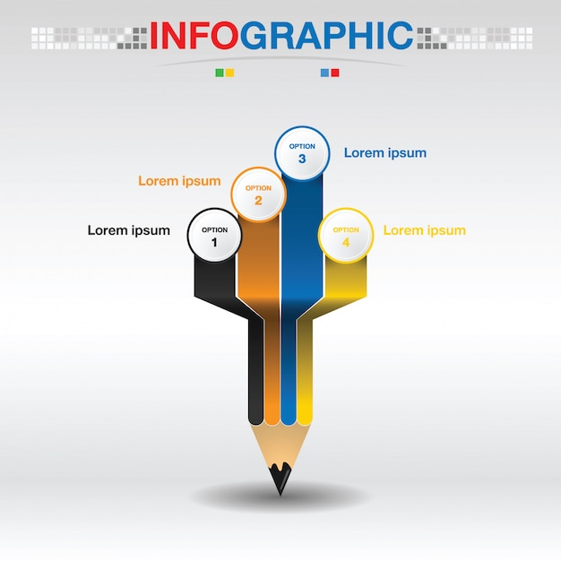Infographic Template For Business And Education Pie Chart Diagram