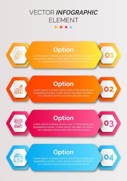 アイコンと数のインフォグラフィックテンプレート Premiumベクター