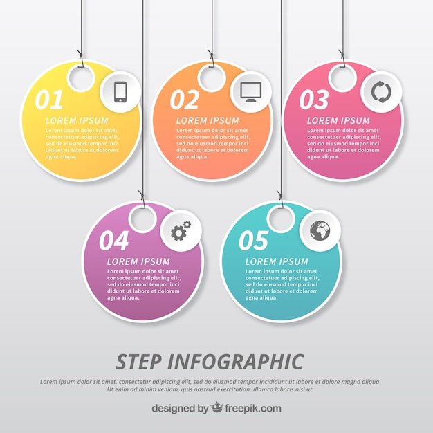 Infographic template with label design Free Vector