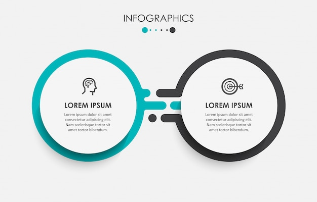 Infographic template with steps Premium Vector
