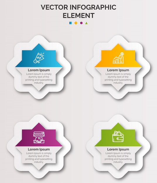 Infographic template Premium Vector