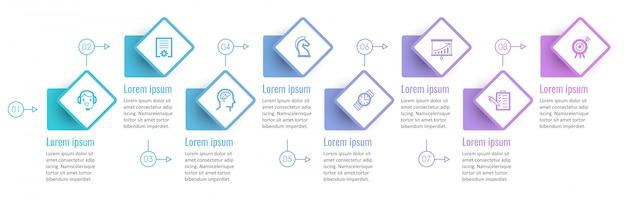 インフォグラフィックテンプレート Premiumベクター
