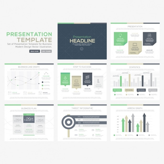 Infographic templates collection Free Vector