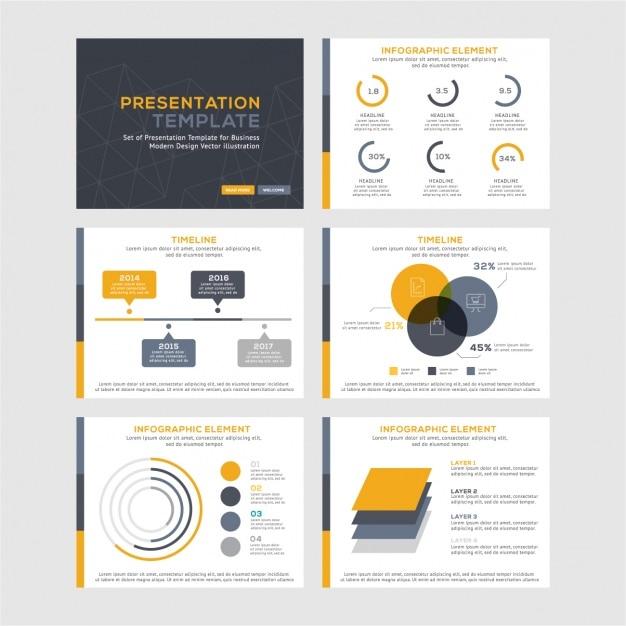 Collezione di modelli infographic Vettore gratuito