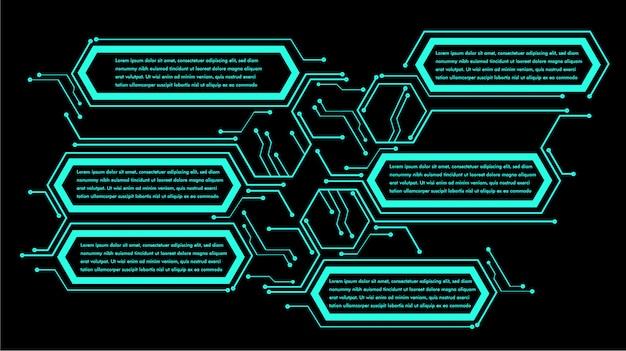 Infographic text box neon Premium Vector
