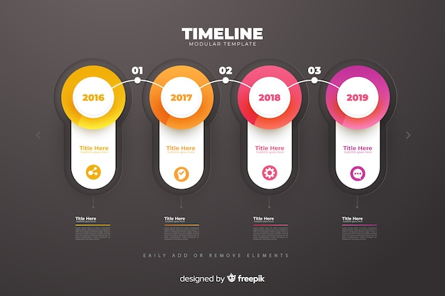 Infographic timeline charts growth template Free Vector