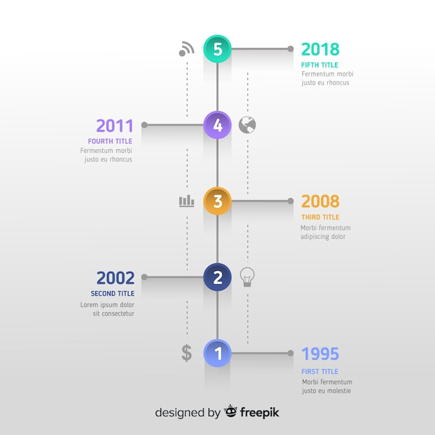 Infographic timeline concept Free Vector