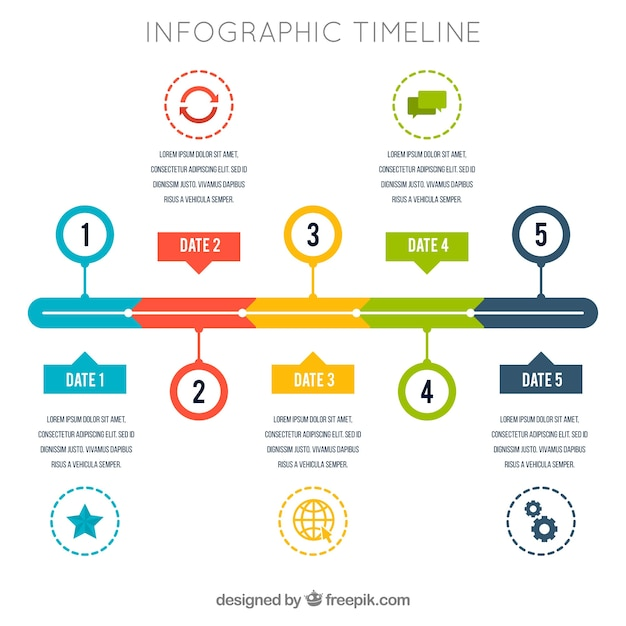 Infographic timeline design Vector | Free Download