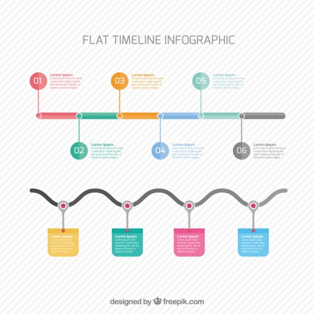 Infographic timeline in flat design Vector | Free Download