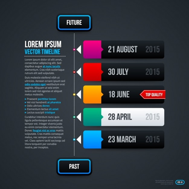 Infographic Timeline Template Vector | Free Download