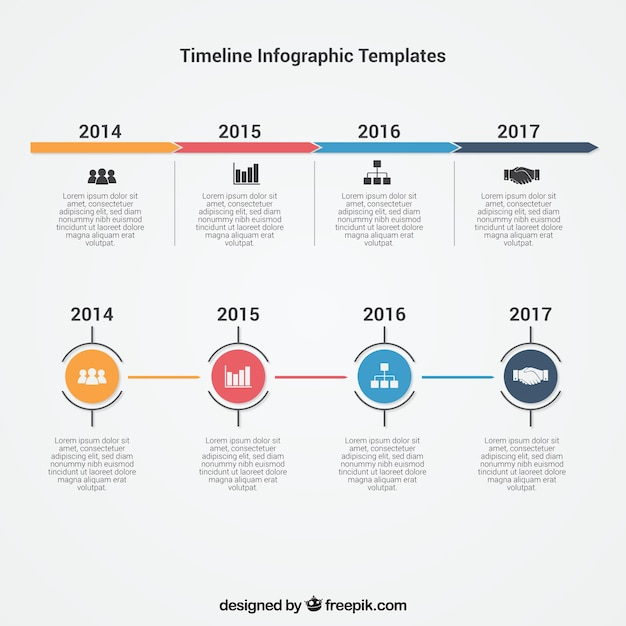 Infographic timeline template vector free download for Grafik design job