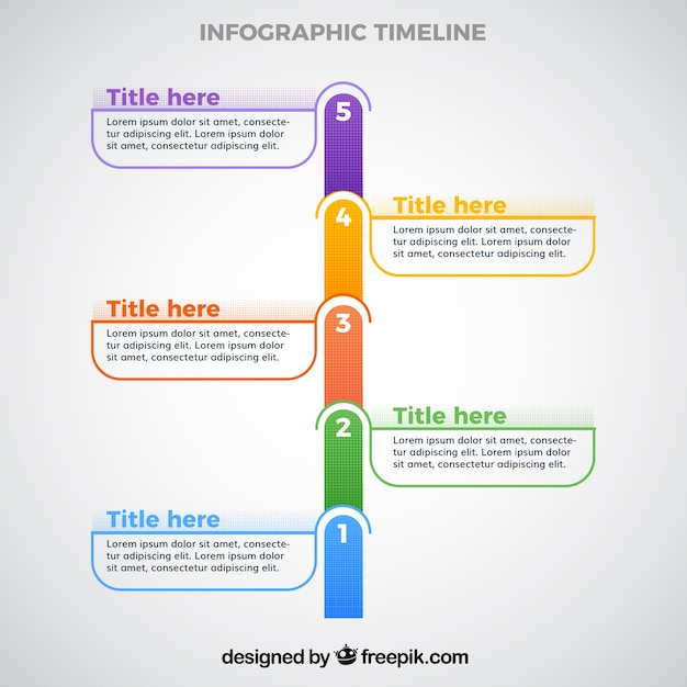 Infographic Timeline Template Vector Free Download - Timeline templates free