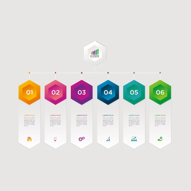 Infographic vector graphic download template modern Premium Vector