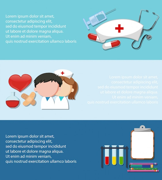 Infographic with medical theme on blue background Free Vector