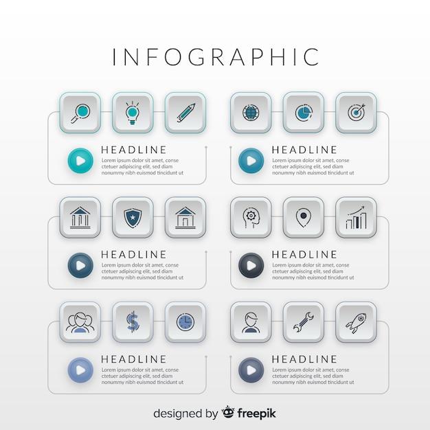 Инфографики Premium векторы