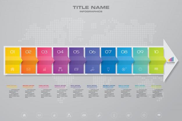 Infographics arrow chart design element. Premium Vector