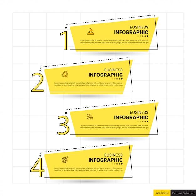 Infographics banner template Premium Vector