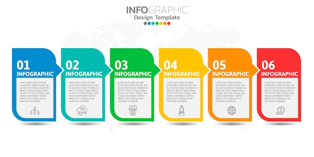 Infographics for business concept with icons and options or steps. Premium Vector