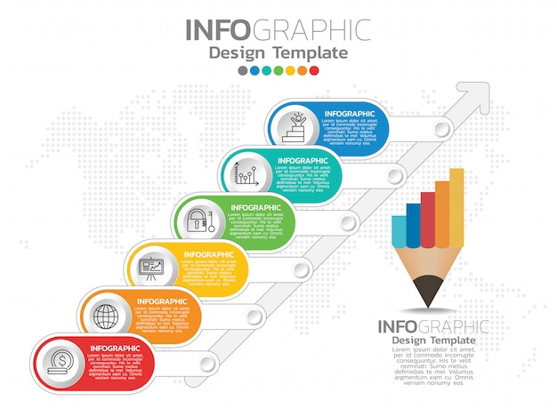 Infographics for business concept with icons and options Premium Vector