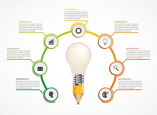 Infographics for business presentations. Premium Vector