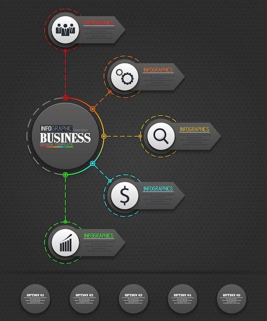 インフォグラフィックビジネステンプレートのコンセプト Premiumベクター