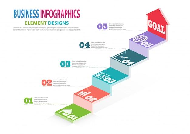 Infographics business template Premium Vector