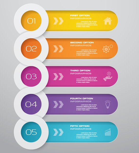 Infographics chart design element Premium Vector