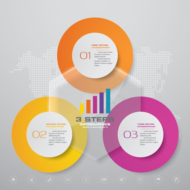 Infographics chart design element Premium Vector
